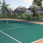 Perspectiva ilustrada da Quadra de tênis*